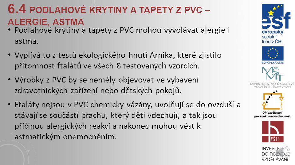 6.3.1 PVC - POLYVINYLCHLORID PVC je velmi používanou umělou hmotou na Zemi Proč? -levný způsob výroby -významné užitné vlastnosti: -snadná zpracovatel