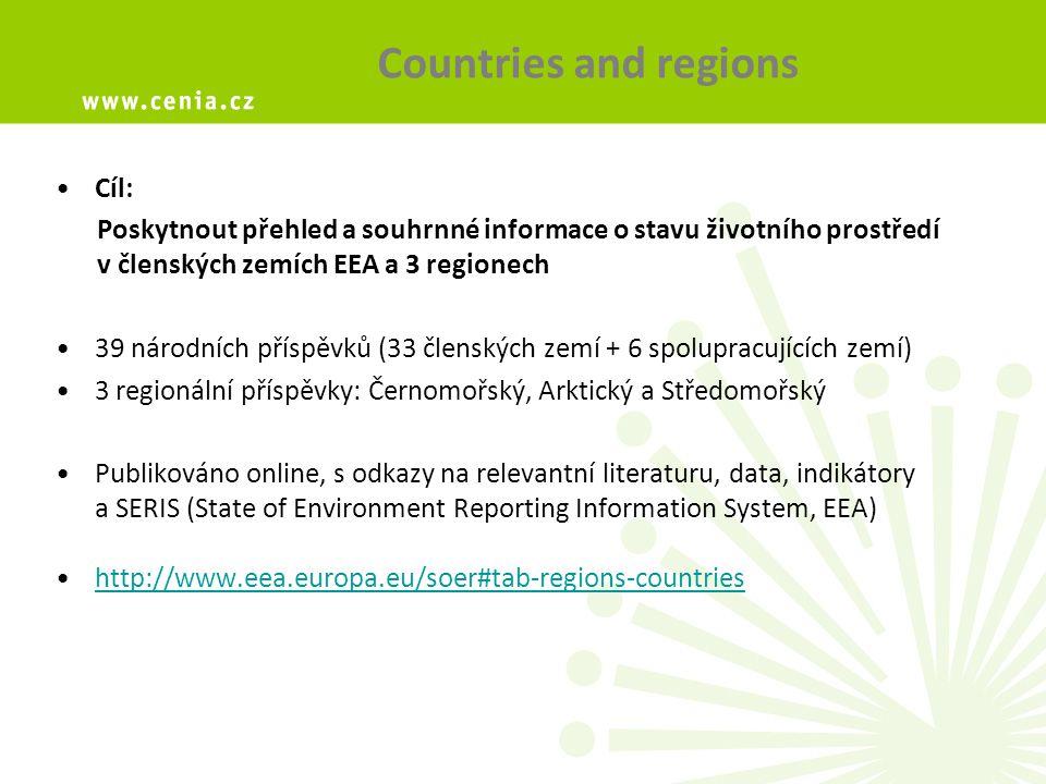 Metodika Jednotná metodika EEA EEA podpora, EEA editační systém Připravovány jednotlivými státy – vycházejí z podkladů jednotlivých národních Zpráv o životním prostředí (SoE) V jednotlivých zemích určen vedoucí autor zodpovědný za vznik příspěvku: ČR: NRC SoE + NFP Struktura příspěvku:  Rozsah: max.