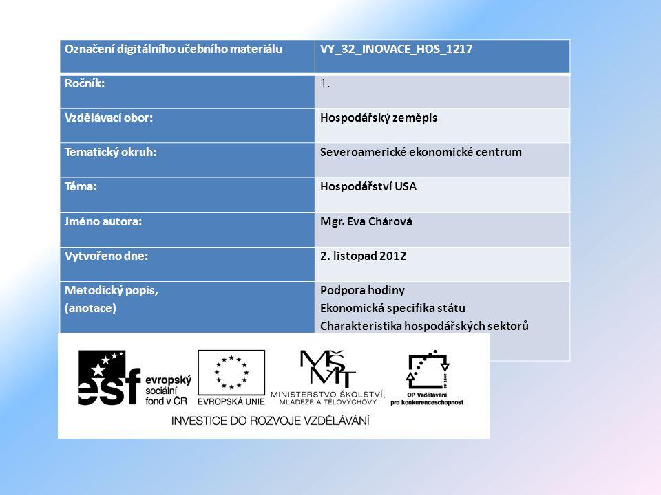 Označení digitálního učebního materiáluVY_32_INOVACE_HOS_1217 Ročník:1.
