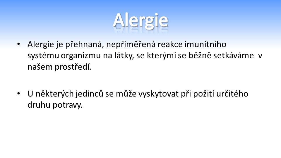 Alergie je přehnaná, nepřiměřená reakce imunitního systému organizmu na látky, se kterými se běžně setkáváme v našem prostředí.