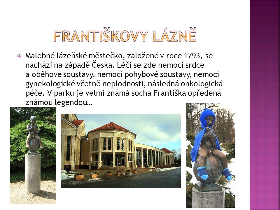  Malebné lázeňské městečko, založené v roce 1793, se nachází na západě Česka.