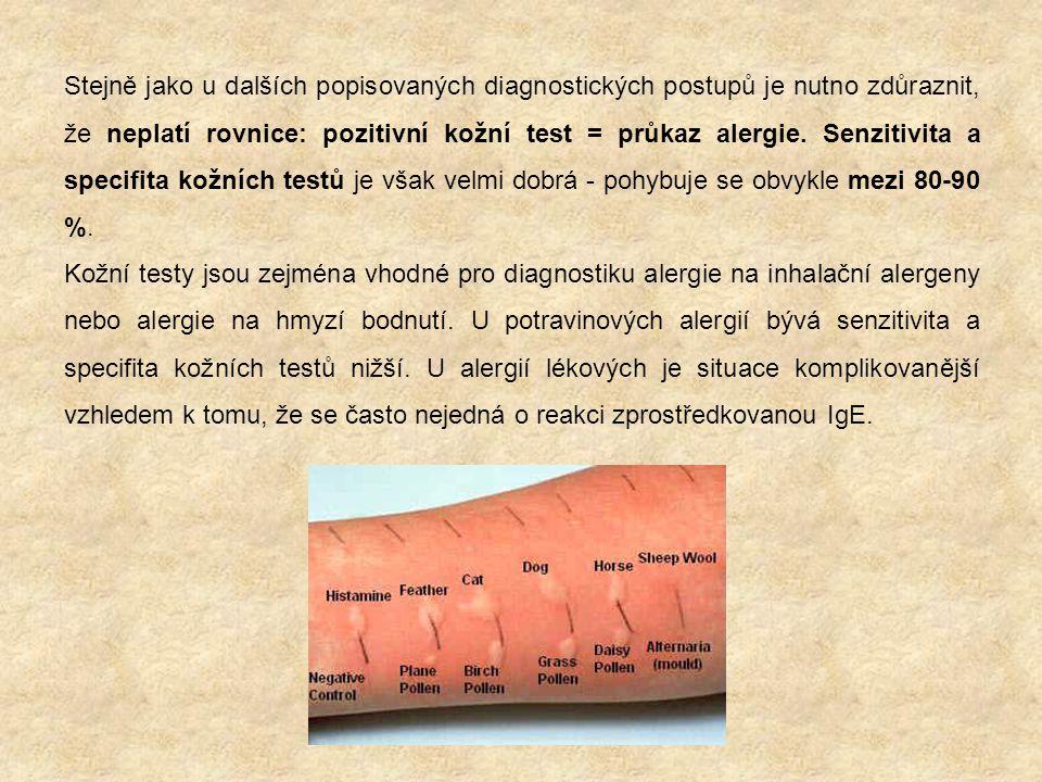 Expoziční (provokační) testy Podstatou tohoto testu je vyvolat příznaky alergie tím, že vystavíme pacienta kontaktu s podezřelým alergenem.