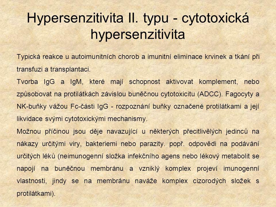 Hypersenzitivita II.
