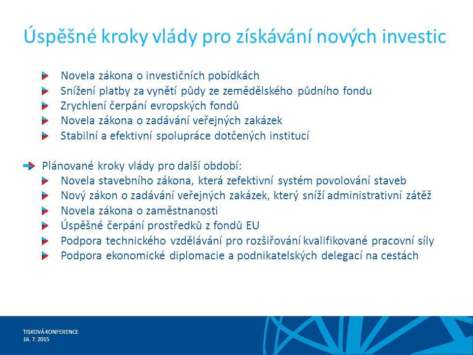TISKOVÁ KONFERENCE 16.7.