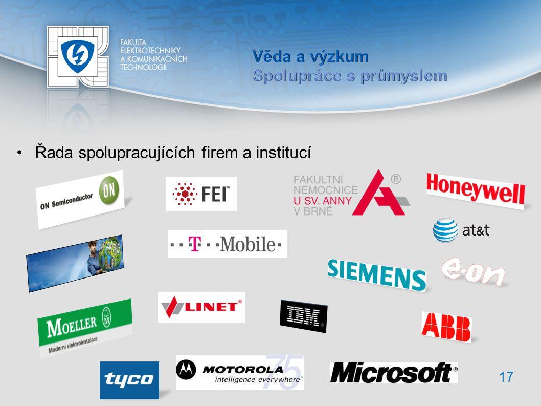 17 Řada spolupracujících firem a institucí