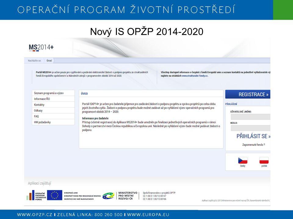Nový IS OPŽP 2014-2020