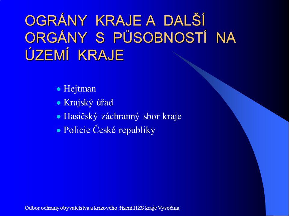 Odbor ochrany obyvatelstva a krizového řízení HZS kraje Vysočina § 19 Společné ustanovení (1) Krizový plán a plán krizové připravenosti se zpracují nejdéle do 4 let po nabytí účinnosti tohoto nařízení.