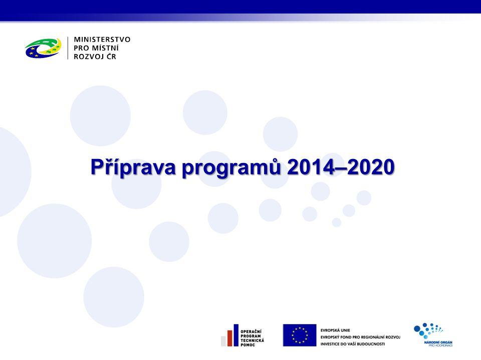 Příprava programů 2014–2020