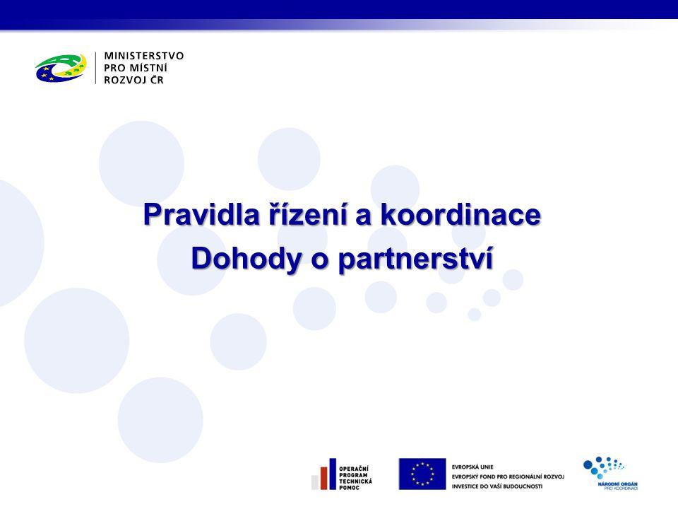 Pravidla řízení a koordinace Dohody o partnerství