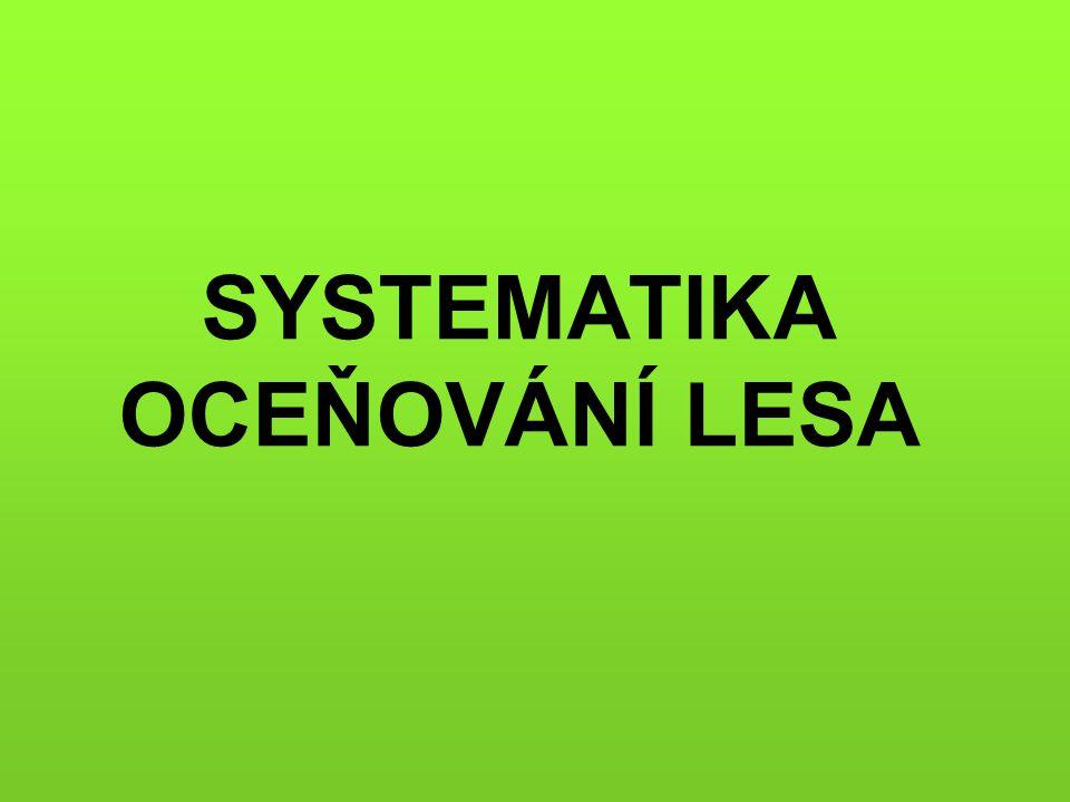 SYSTEMATIKA OCEŇOVÁNÍ LESA