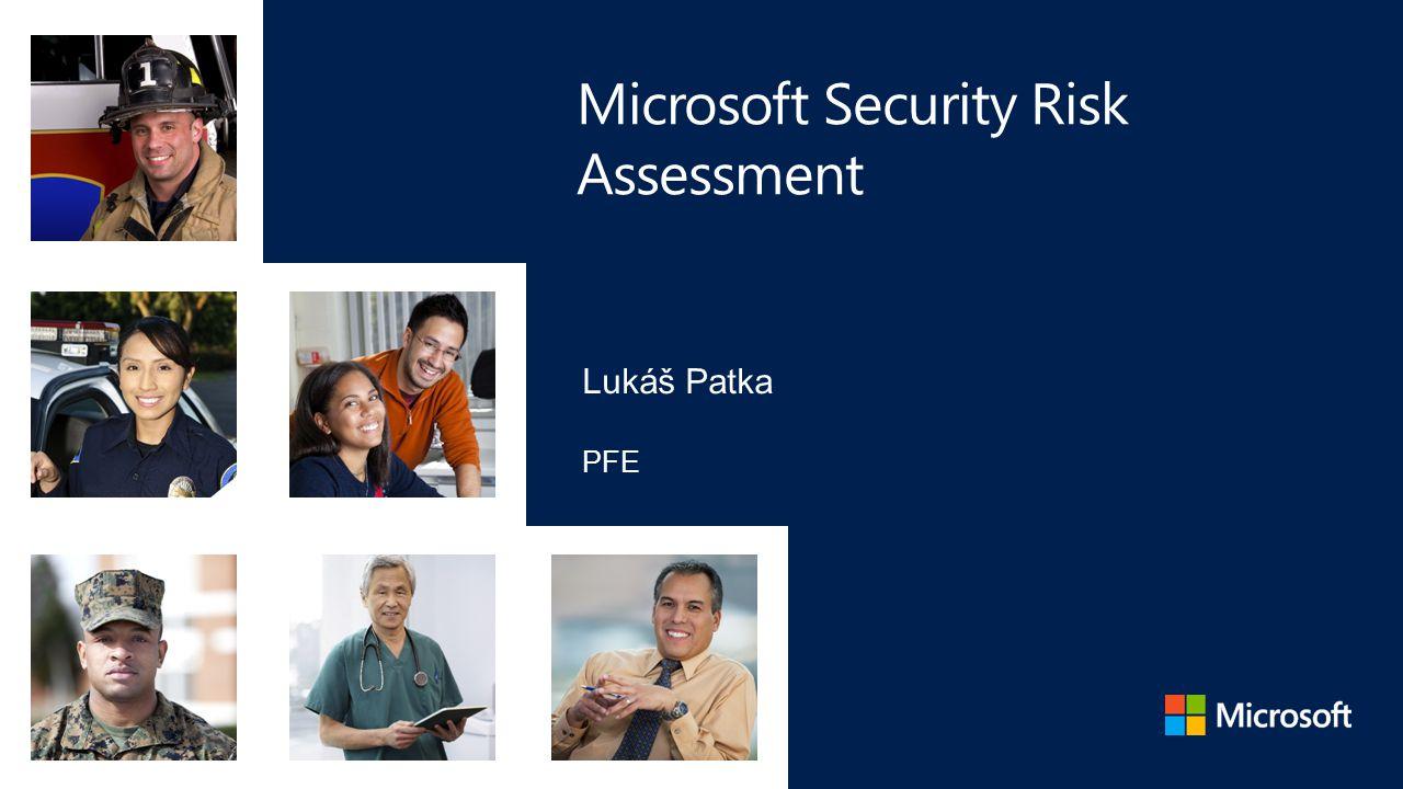 Microsoft Security Risk Assessment Identifikovat bezpečnostní rizika napříč IT infrastrukturou, aplikacemi, provozními procesy Zaměřen na všechny aspekty IT služeb lidé, procesy, tehcnologie Přináší konkrétní doporučení pro zlepšení celkové bezpečnosti v organizaci Cíle 2-týdenní služba, onsite u zákazníka: Workshop řízení rizik Interview a analýza stávajícího prostředí Prioritizace doporučení a vytvoření roadmap Struktura