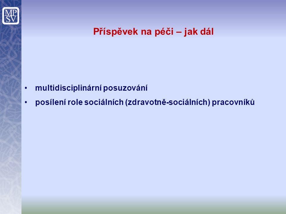 Příspěvek na péči – jak dál multidisciplinární posuzování posílení role sociálních (zdravotně-sociálních) pracovníků