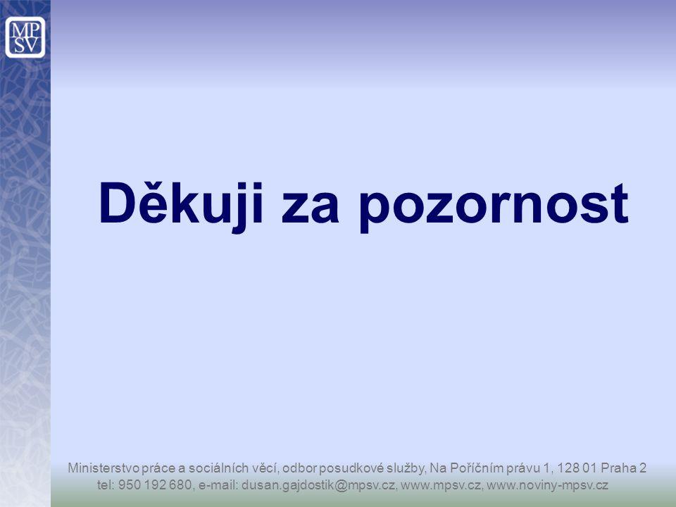 Děkuji za pozornost tel: 950 192 680, e-mail: dusan.gajdostik@mpsv.cz, www.mpsv.cz, www.noviny-mpsv.cz Ministerstvo práce a sociálních věcí, odbor pos