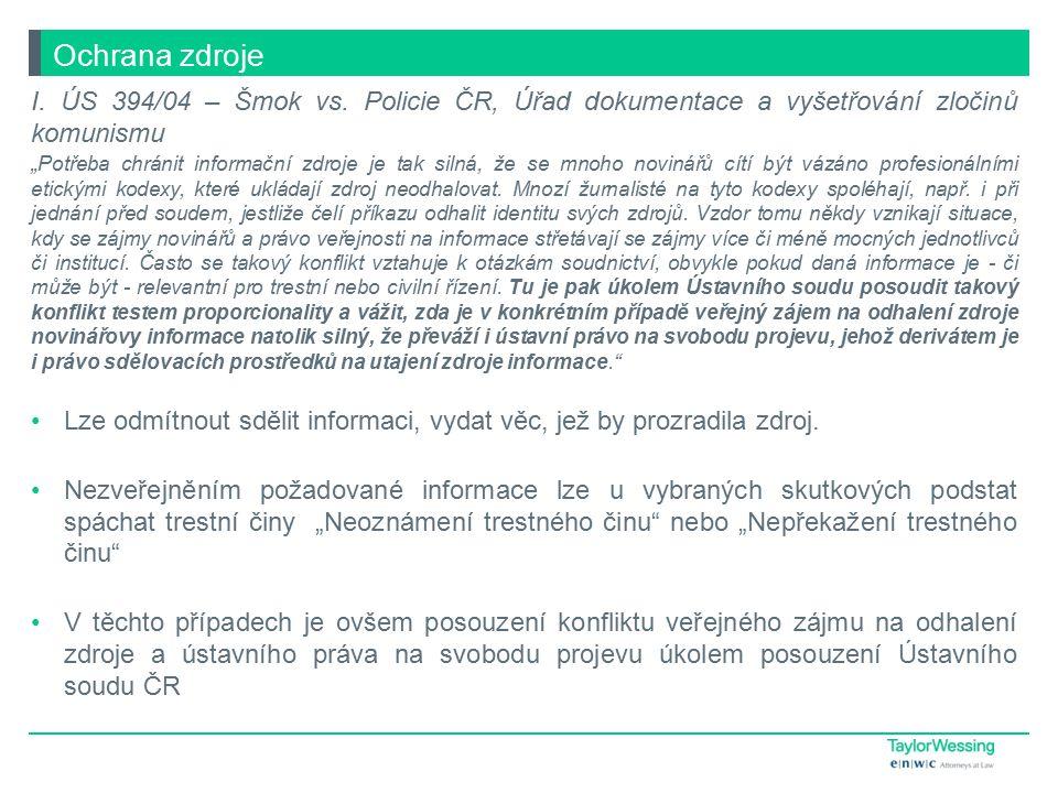 I.ÚS 394/04 – Šmok vs.