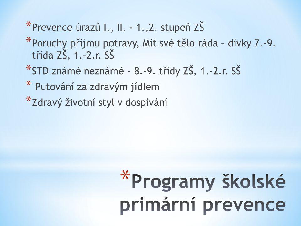 * Prevence úrazů I., II. - 1.,2.