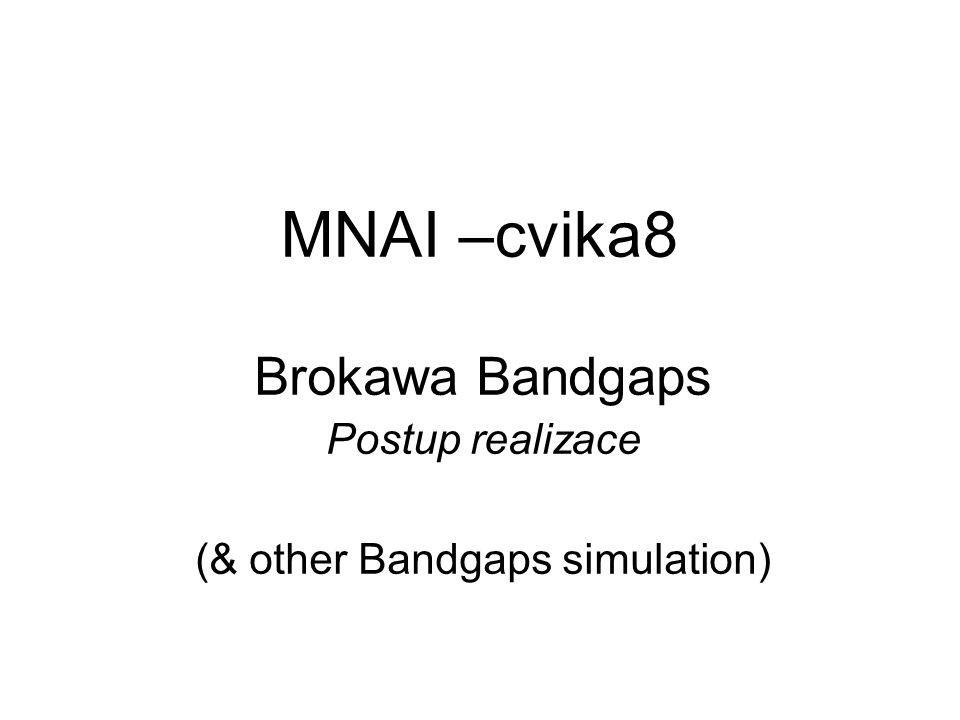 MNAI –cvika8 Brokawa Bandgaps Postup realizace (& other Bandgaps simulation)