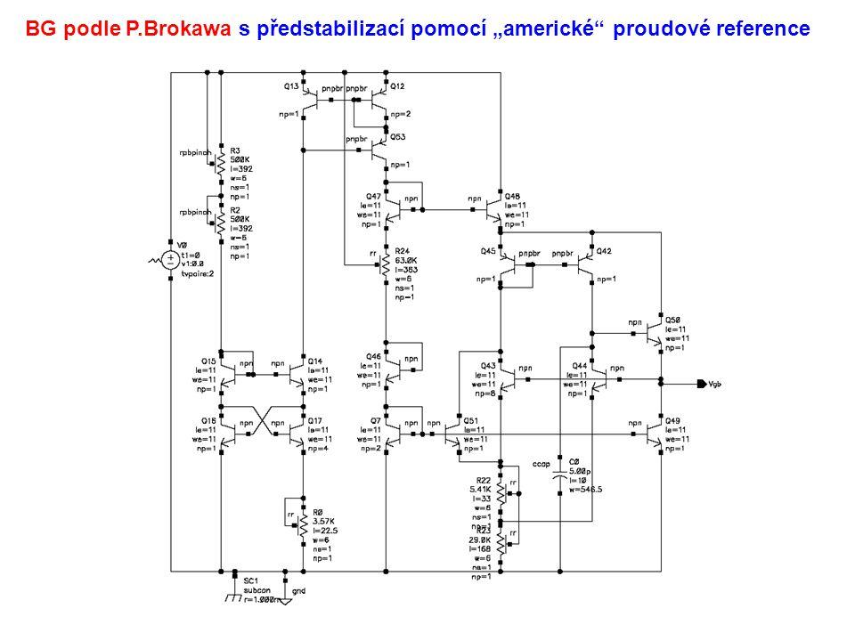 """BG podle P.Brokawa s předstabilizací pomocí """"americké proudové reference"""