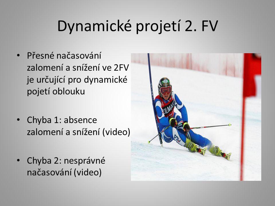 Dynamické projetí 2. FV Přesné načasování zalomení a snížení ve 2FV je určující pro dynamické pojetí oblouku Chyba 1: absence zalomení a snížení (vide