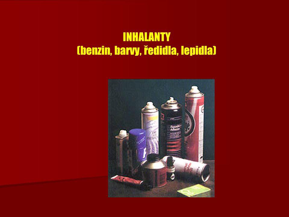 INHALANTY (benzin, barvy, ředidla, lepidla)