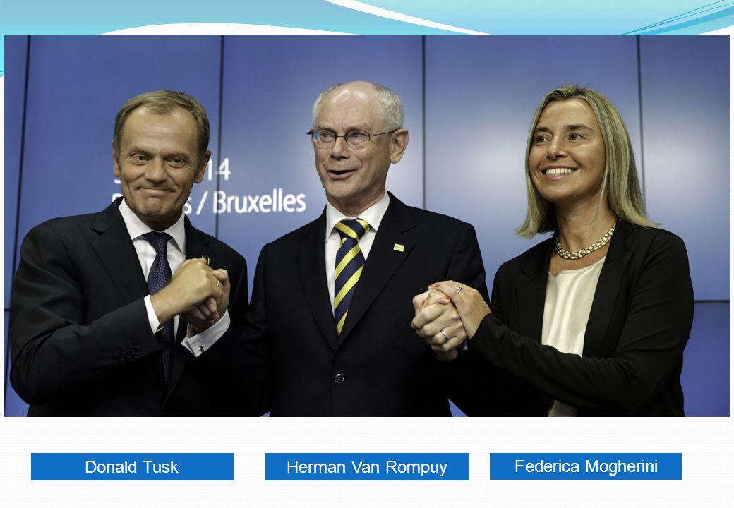 Federica Mogherini Herman Van RompuyDonald Tusk
