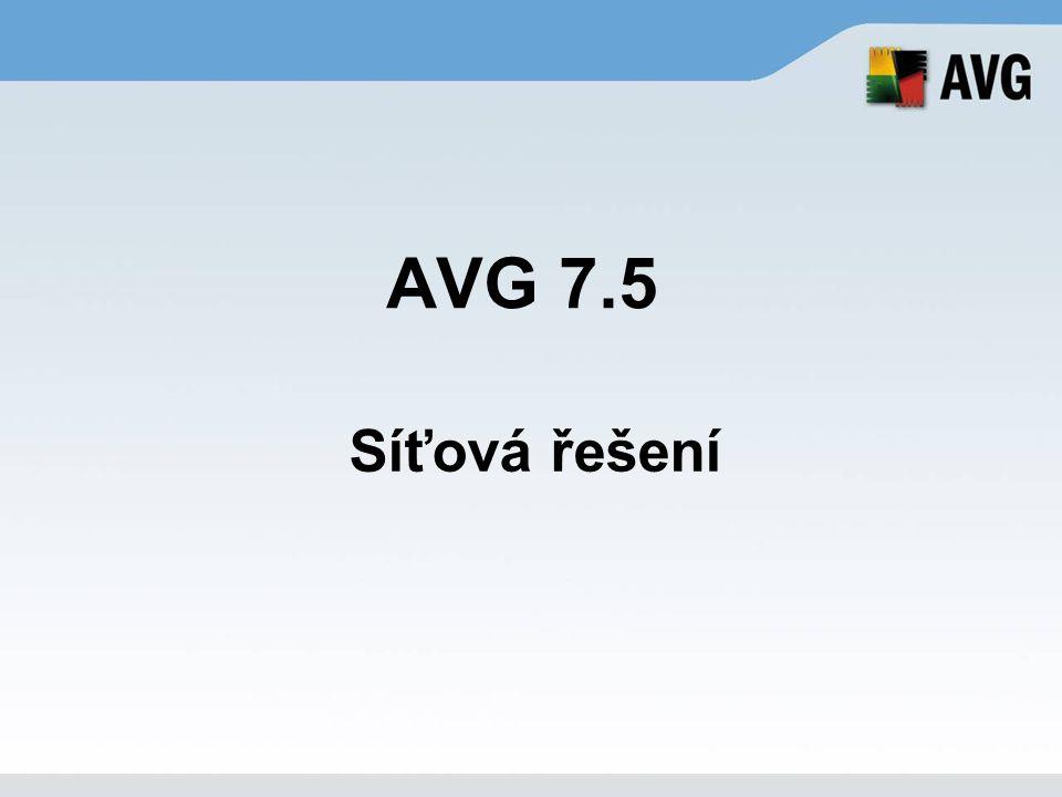 AVG 7.5 Síťová řešení