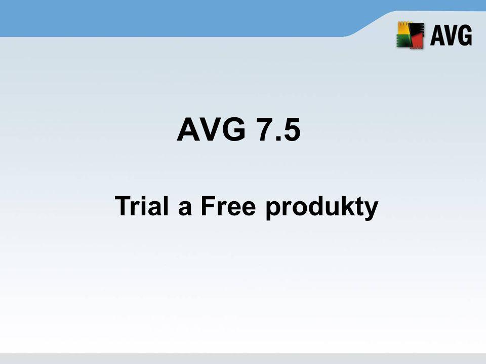 AVG 7.5 Trial a Free produkty