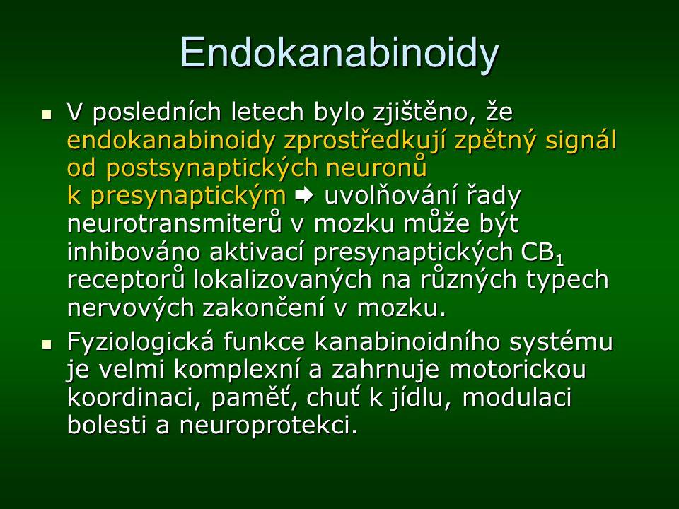 Endokanabinoidy V posledních letech bylo zjištěno, že endokanabinoidy zprostředkují zpětný signál od postsynaptických neuronů k presynaptickým  uvolň