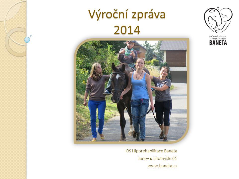 Výroční zpráva 2014 OS Hiporehabilitace Baneta Janov u Litomyšle 61 www.baneta.cz