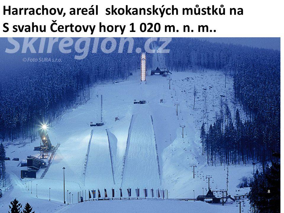 Harrachov, areál skokanských můstků na S svahu Čertovy hory 1 020 m. n. m.. 8