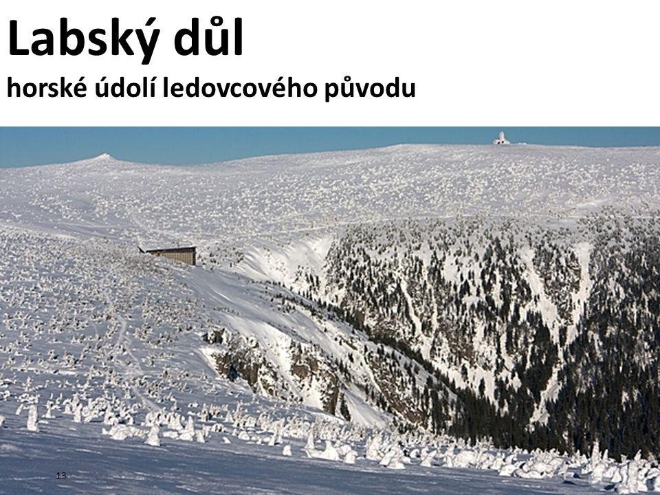 Labský důl horské údolí ledovcového původu 13