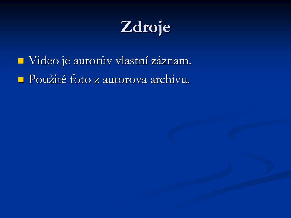 Zdroje Video je autorův vlastní záznam.Video je autorův vlastní záznam.