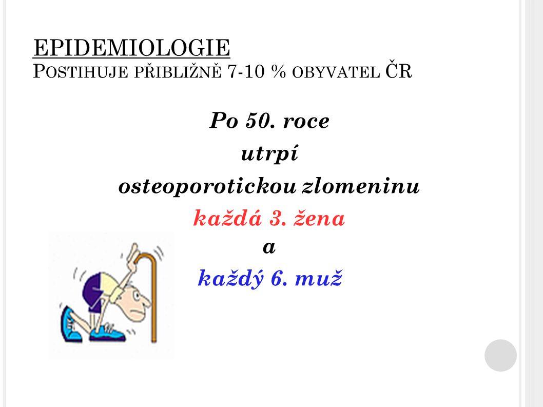 P OHYBOVÁ AKTIVITA FYZICKÁ AKTIVITA A VLIV GRAVITACE aktivace osteoblastů fixace vápenatých iontů na záporně nabitý povrch kosti zvýšený přísun materiálu pro osifikaci V dětství a dospívání - sporty a cvičení vyšší intenzity, zátěže a vytrvalosti (vliv na stimulaci osteoblastů) Ve vyšším věku - aktivity střední intenzity kratšího trvání s pauzami mezi cvičením