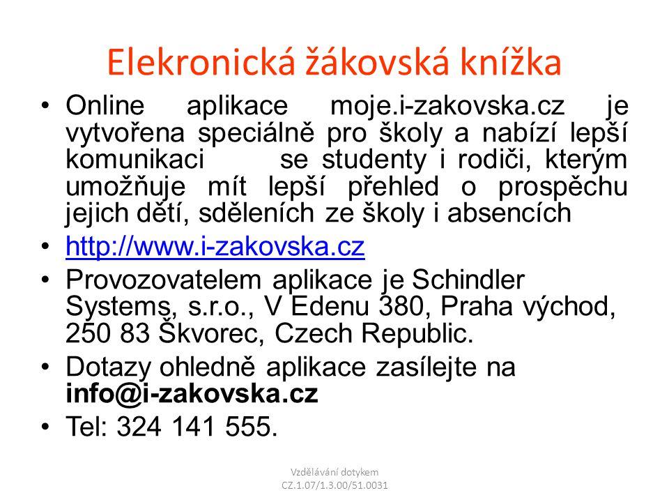 Elekronická žákovská knížka Online aplikace moje.i-zakovska.cz je vytvořena speciálně pro školy a nabízí lepší komunikaci se studenty i rodiči, kterým