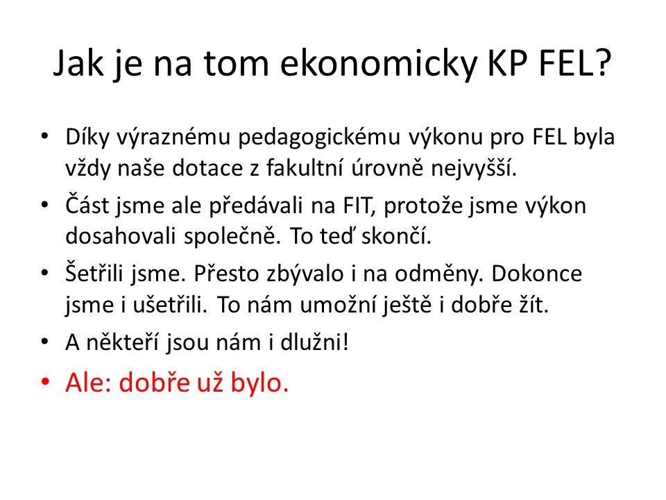 Jak je na tom ekonomicky KP FEL.