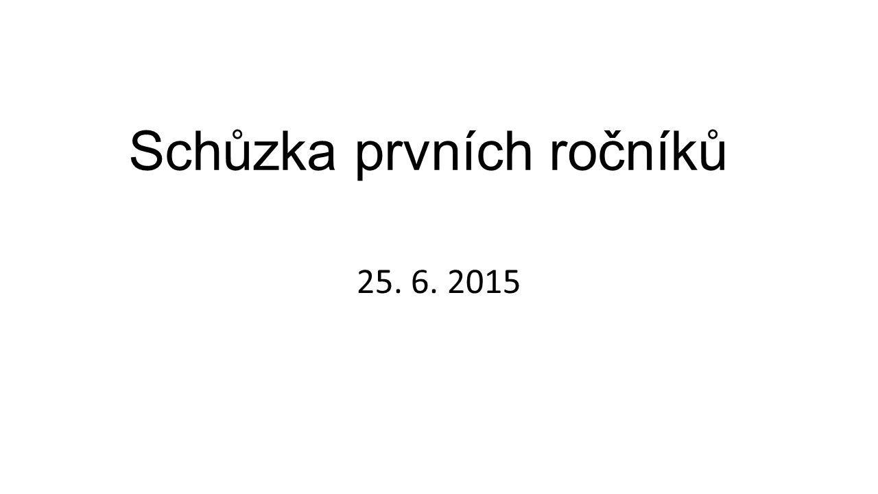 Schůzka prvních ročníků 25. 6. 2015