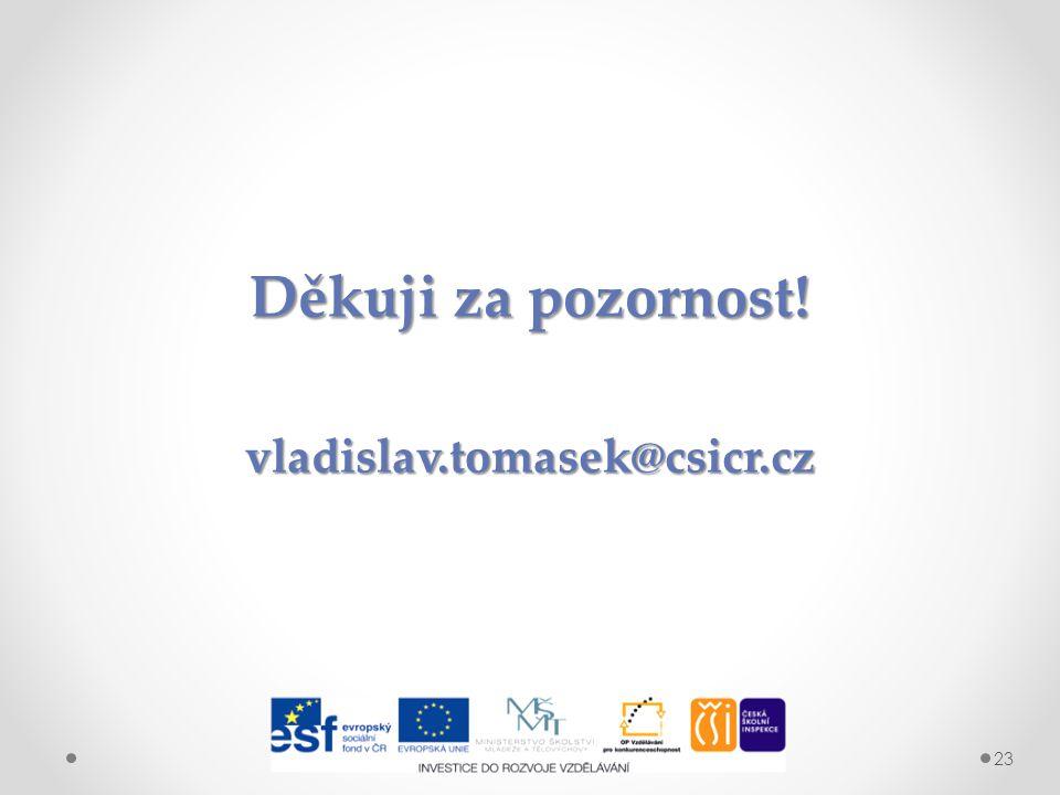 Děkuji za pozornost! vladislav.tomasek@csicr.cz 23