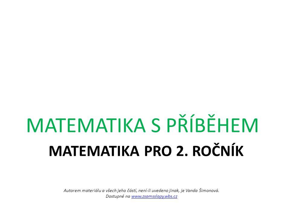 Autorem materiálu a všech jeho částí, není-li uvedeno jinak, je Vanda Šimonová. Dostupné na www.zsamsslapy.wbs.czwww.zsamsslapy.wbs.cz MATEMATIKA PRO