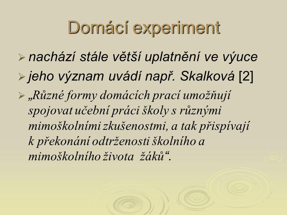 Didaktický rozbor vybraných domácích pokusů [8] Didaktický rozbor vybraných domácích pokusů [8]  Sledování poklesu hladiny intenzity zvuku v různých prostředích a vzdálenostech jistě připívá k snižování sluchové zátěže žáků: 1.