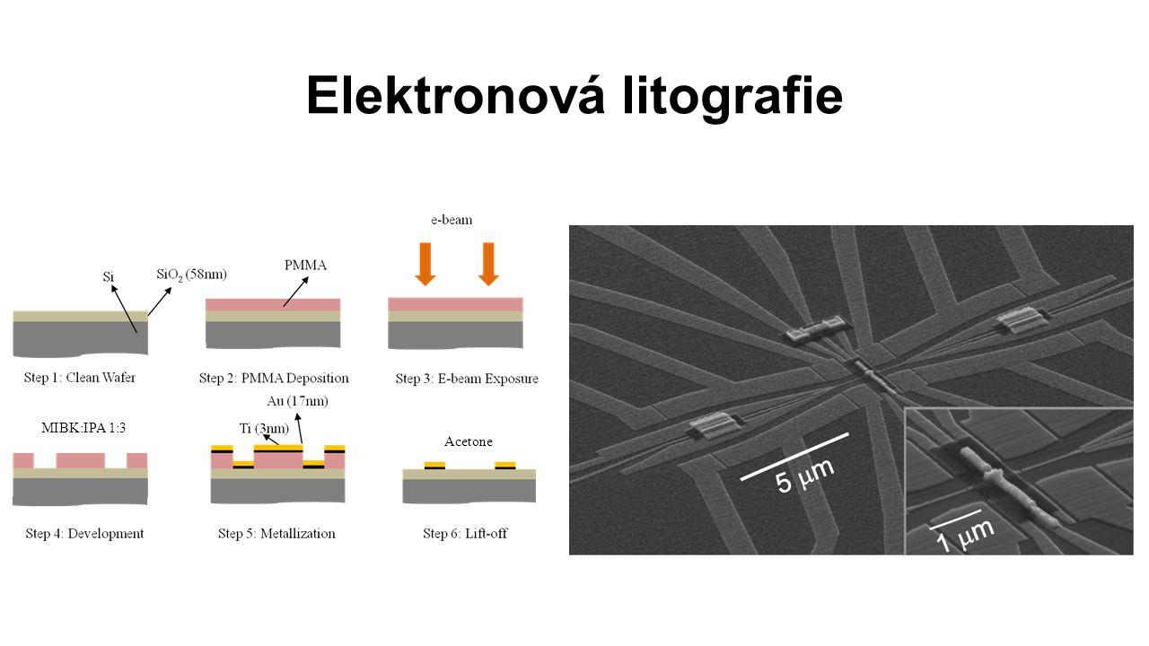 Elektronová litografie MIBK:IPA 1:3 Acetone
