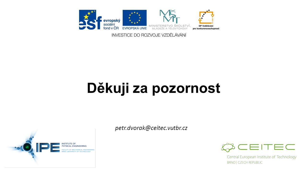 Děkuji za pozornost petr.dvorak@ceitec.vutbr.cz