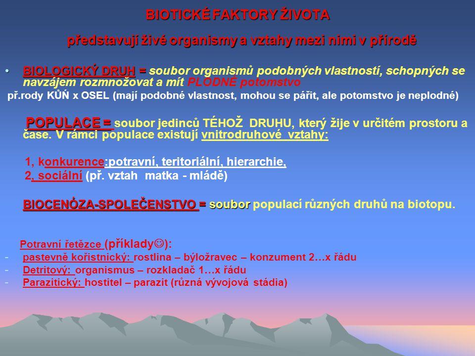 FAKTORY ABIOTICKÉ – viz.1.
