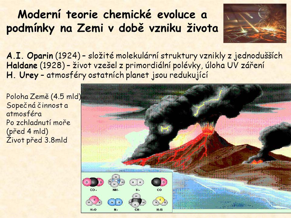 Moderní teorie chemické evoluce a podmínky na Zemi v době vzniku života A.I.
