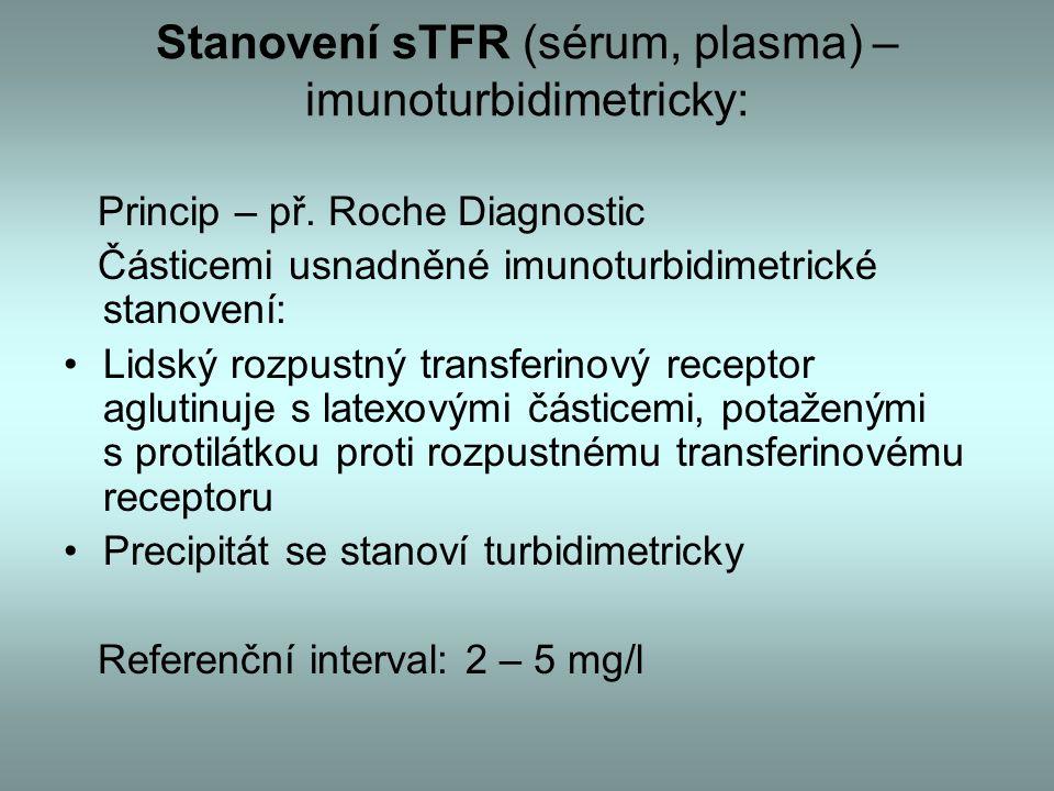 Stanovení sTFR (sérum, plasma) – imunoturbidimetricky: Princip – př.