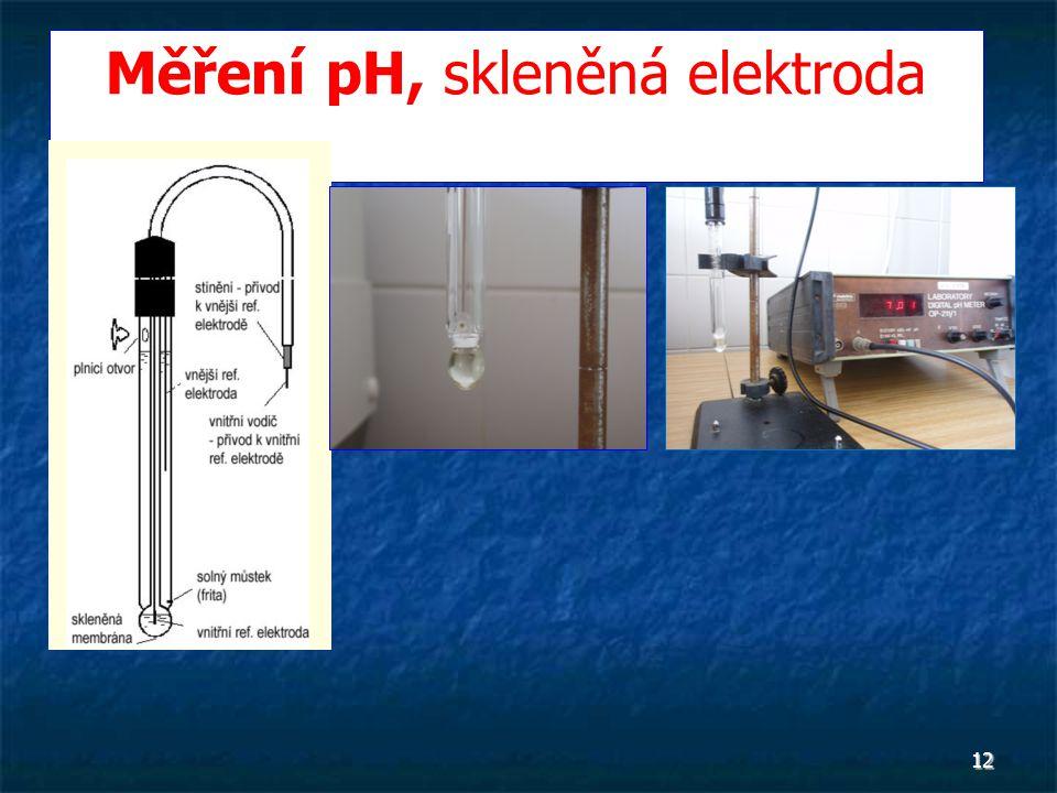 12 Měření pH, skleněná elektroda