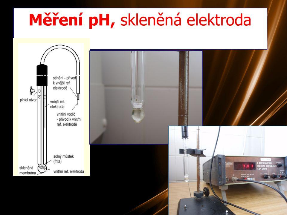 15 Měření pH, skleněná elektroda