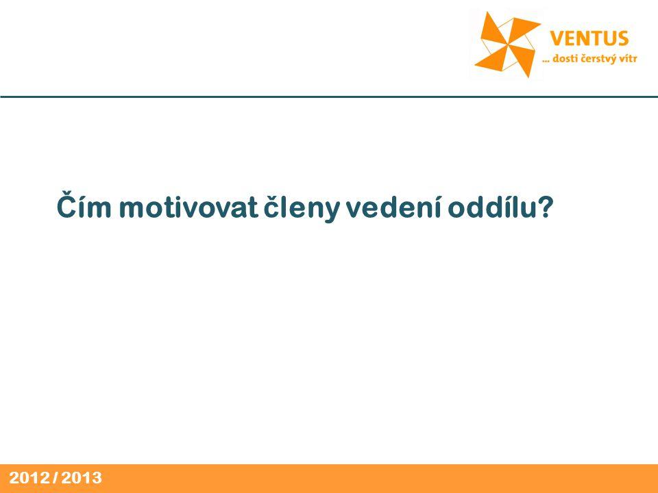 2012 / 2013 Č ím motivovat č leny vedení oddílu
