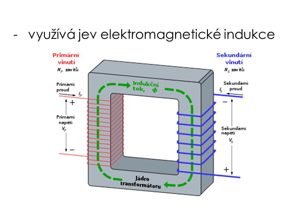-využívá jev elektromagnetické indukce
