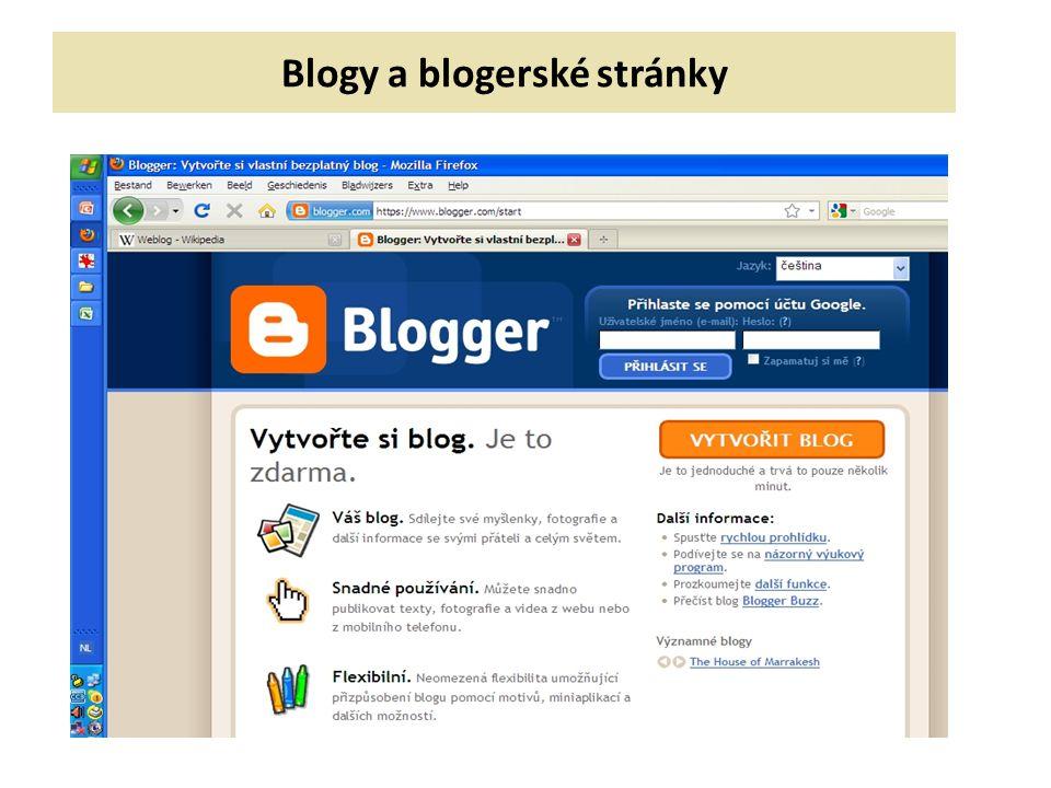 Blogy a blogerské stránky