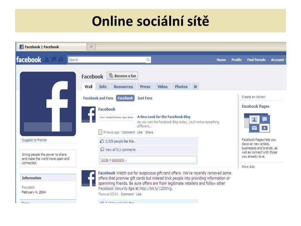 Online sociální sítě