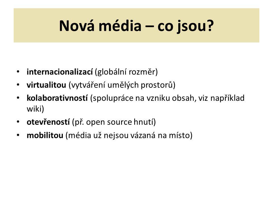 Nová média – co jsou.